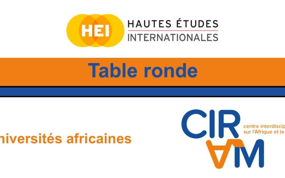 Table ronde sur le thème des universités africaines