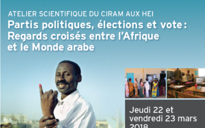 Partis politiques, élections et vote : regards croisés entre l'Afrique et le Monde arabe
