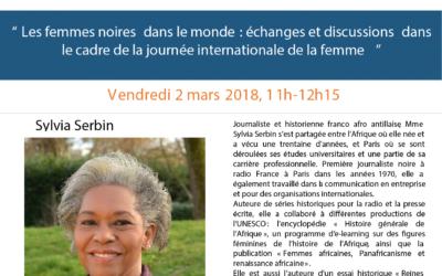 «Les femmes noires dans le monde : échanges et discussions dans le cadre de la journée internationale de la femme»